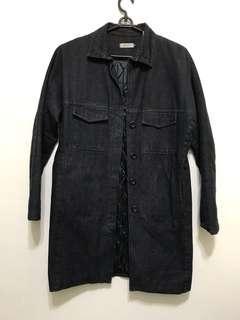 🚚 TheCorner:: 古著 黑色 長版 牛仔外套 鋪棉外套 Vintage