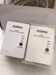 Edimax 500MBPS nano power line adaptor