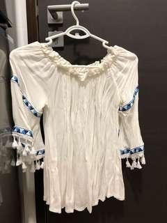 New white trendy blouse