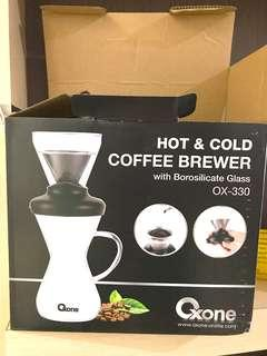 Oxone Hot and Cold Coffee Brewer with Borosilicate Glass