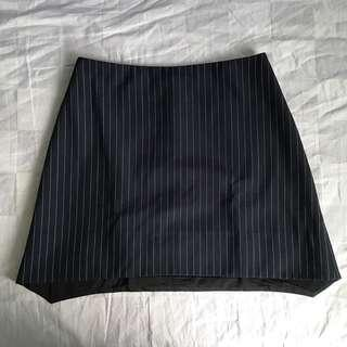 Pin striped A-line skirt