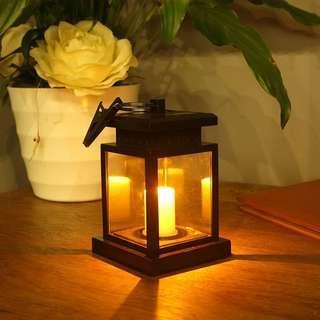 🚚 led light home solar light garden light candle light Outdoor waterproof umbrella light simulation flashing flame light
