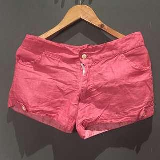 Red Oxford shorts