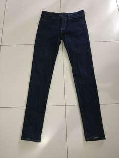 Uniqlo Jeans Woman Skinny Ultra Stretch Indigo Size 26