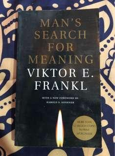 🚚 Viktor E Frankl - Man's Search for Meaning