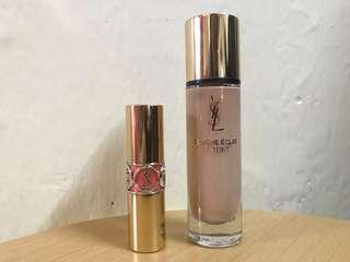 YSL foundation 金管+ YSL lipstick