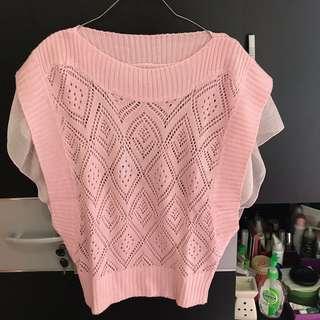 Pink Sweater Bat outer cardigan
