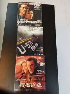 三隻動作西片VCD(一新兩舊)