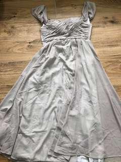 結婚物資,結婚用品,灰色長身裙,姊妹裙