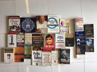 Fiction and non fiction preowned books