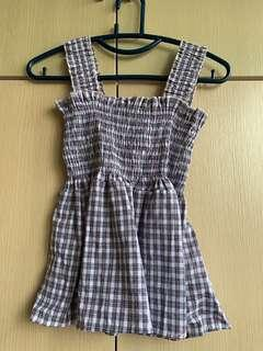 checkered babydoll top