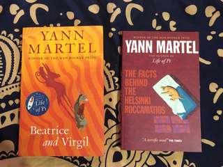 🚚 Yann Martel books - the facts behind the Helsinki roccamatios / Beatrice and the Virgil