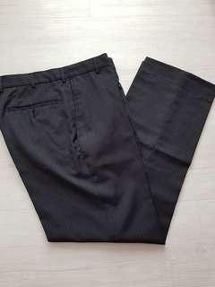 Daniel Hetcher Black Pinstripe Pants