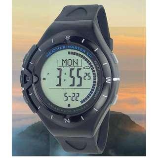 全新 Weather Master Swiss Sensor Hiking Watch ~ Altimeter, Barometer, Compass 行山必備手錶