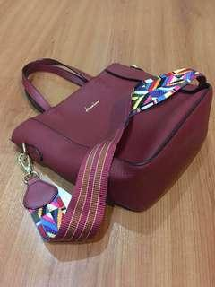 Bag Maroon Import