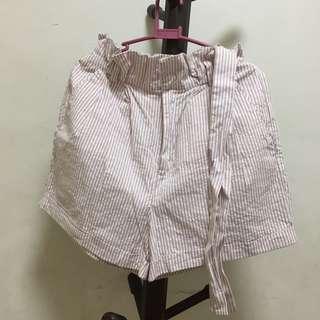 F21 Light Pink Paperbag Shorts