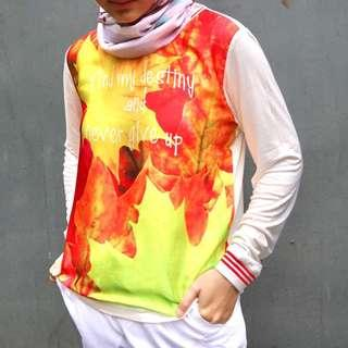 OSELLA White Sweatshirt Quote