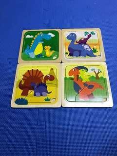 嬰幼兒兒童恐龍拼圖