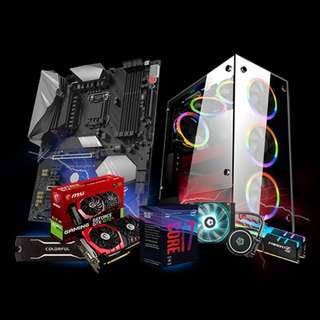 🚚 1stPlayer Fire Dancing V6 (Intel Core i7-8700 / 2x8GB 2666MHZ / GTX 1070 TI 8GB / 240GB M.2 NVME SSD) Custom DIY Gaming Desktop PC
