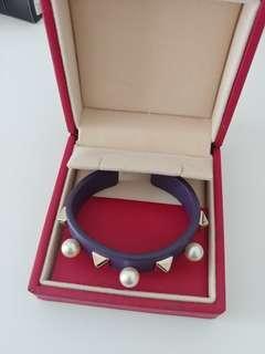 Valentino stud & pearl cuff bracelet