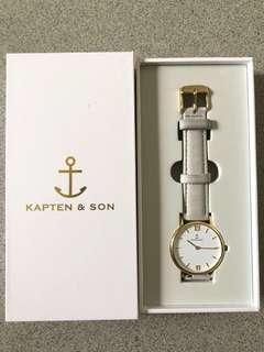 Kapten & Son Joy Grey Velvet Women Watch