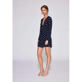 SIR THE LABEL Solene knotted mini dress