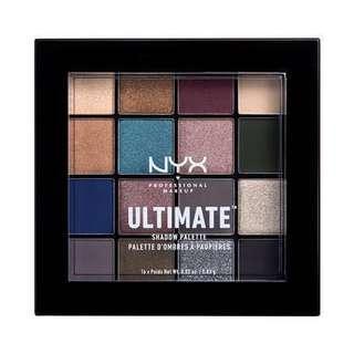 🚚 nyx ultimate eyeshadow palette ash