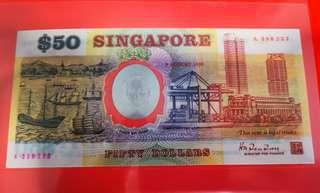 🚚 $50 Singapore Commemorative notes