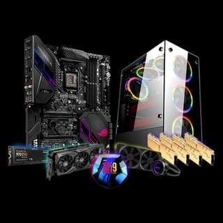 🚚 1stPlayer Fire Dancing V6 (Intel Core i9-9900K / 4x8GB 3200MHZ / RTX 2080 TI / 512GB M.2 NVME SSD)
