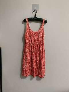 橘點純棉洋裝