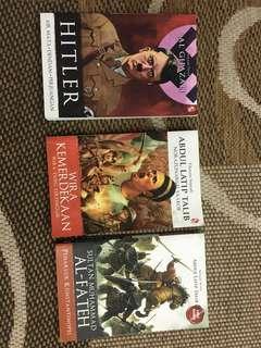 3 Novel Sejarah ( wira kemerdekaan, hitler, sultan Muhd al fateh)