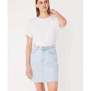 Assembly label denim blue skirt