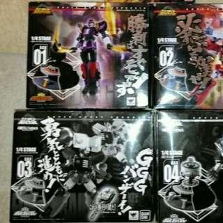 Super robot chogokin full set with big order rooms
