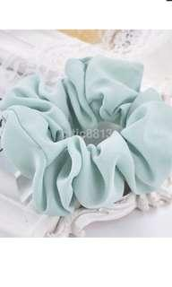 Light Blue Green Hair Scrunchie