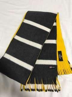 POLO RL 黃色 灰白間條 頸巾