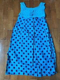 🚚 Girl Dress blue knitted
