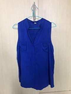 Cobalt blue top