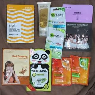 Masker // sheet mask celebon // hair mask // garnier clay mask