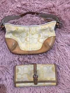 coach wallet and bag