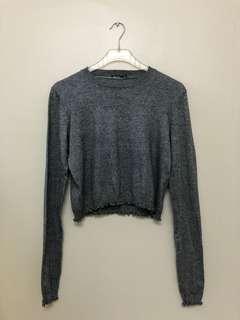 BERSHKA Boxy Fit Knit Top