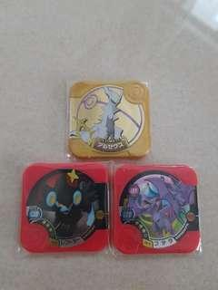 Pokemon Tretta U3 Ultimate Arceus and 2 Hyper class