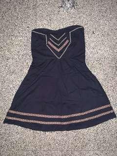 Navy tribal tube dress