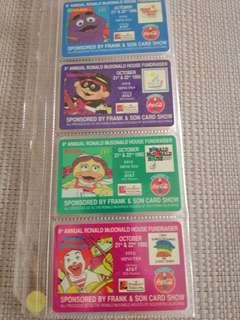 #20%off 8th Annual R. McDonald House Fundraiser set of 4 Phonecards