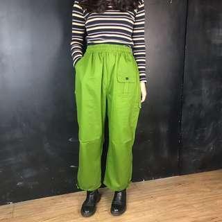 🚚 新品亮草綠色鬆緊長褲