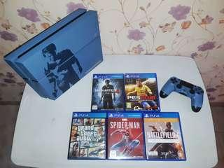 PS4 UNCHARTED LIMITED EDITION 500GB +GAME BLURAY
