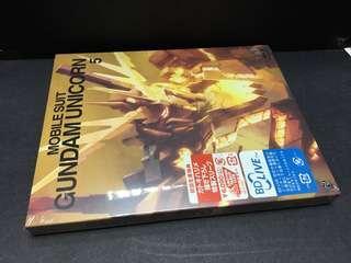日本動畫 機動戰士 GUNDAM UNICORN Vol 5 全新原裝日本限定Blu-Ray 版