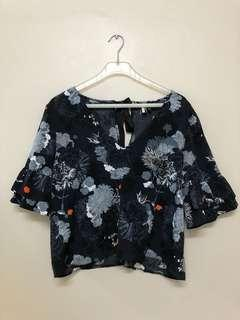 TOPSHOP Loose & Boxy Fit Floral Top