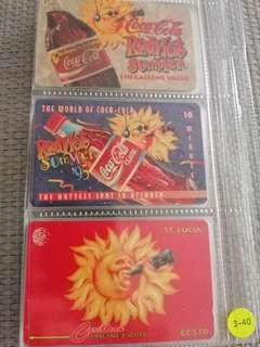 Coca-Cola Red Hot Summer set of 3 Phonecards