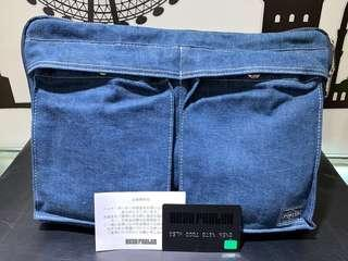 Head porter denim 牛仔丹寧限量版 clutch