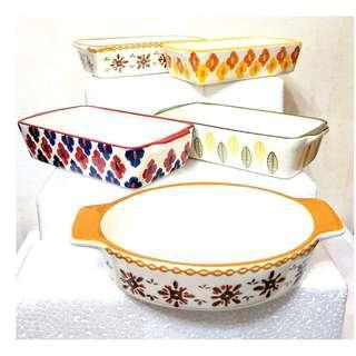 北歐風陶瓷烘焙烤焗盤5件套